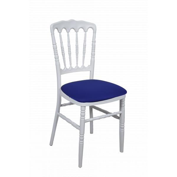 CHAISE NAPOLEON assise bleu roi