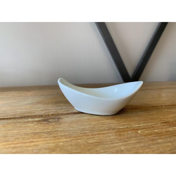 Amuse bouche Mini Gondole blanche 0.03l, 5.2x9x3.5 cm