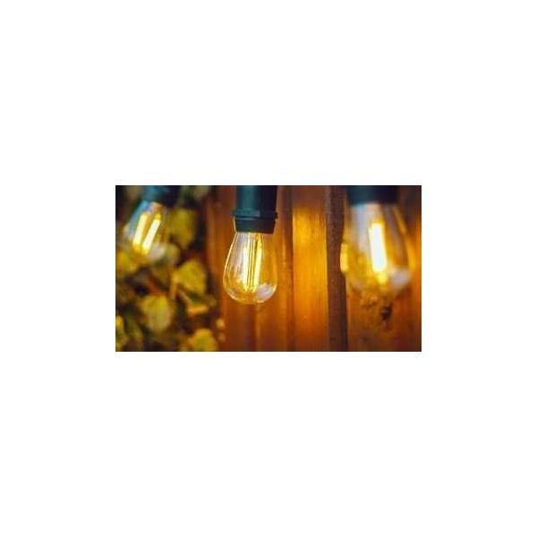 Guirlande Ginguette 20 ampoules led e27 DE 1.5w , L 10m