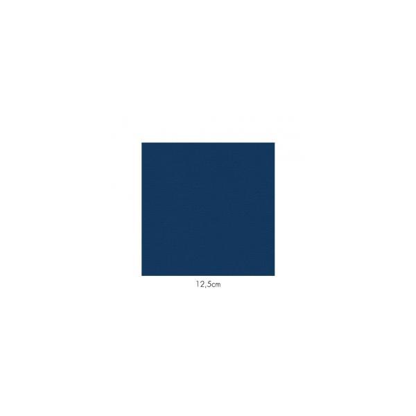 Serviette en papier molletonnées bleue deux épaisseurs 19*19 cm