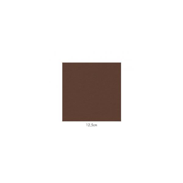 Serviette en papier molletonnées chocolat deux épaisseurs 19*19 cm