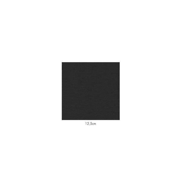 Serviette en papier molletonnées noire deux épaisseurs 19*19 cm