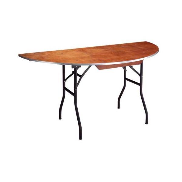 Table 1/2 lune bois