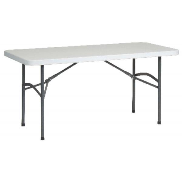 Table rectangulaire plateau résine