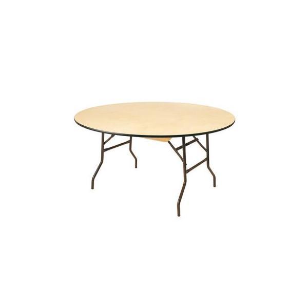 Table ronde plateau bois