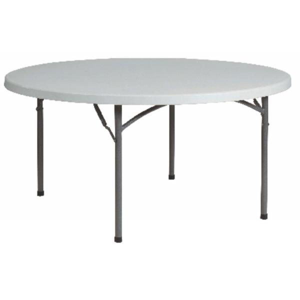 Table ronde plateau résine